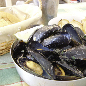 Moules à l'istrienne.