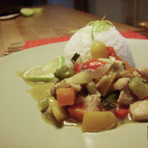 Curry di pollo e mele