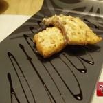 Trancio di salmone in crosta di mandorle