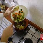 Légumes dans la casserole