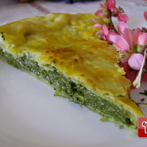 Spinach and chard tart