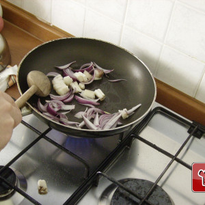 In a frying pan