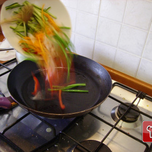Veg in the frying pan