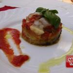 Aubergines with oregano and tomato sauce