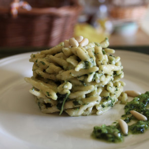 Pesto with trofie pasta