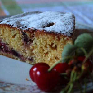 Apple and cherry cake
