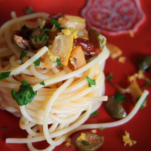 Spaghetti à la sauce au citron
