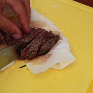 Sliced fillet beef