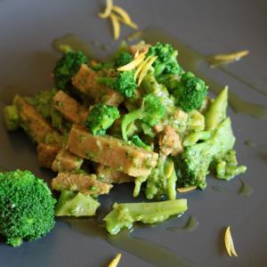 Seitan aux brocolis