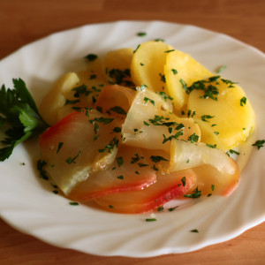 Patate e rave in insalata