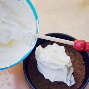 Das Dessert montieren
