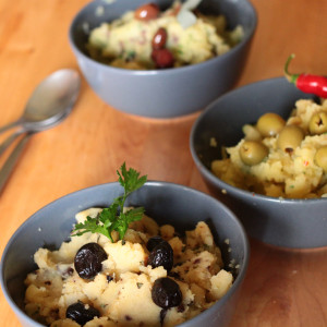 Tris di purè di olive