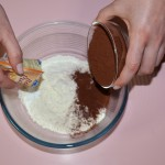 Mix in the flour