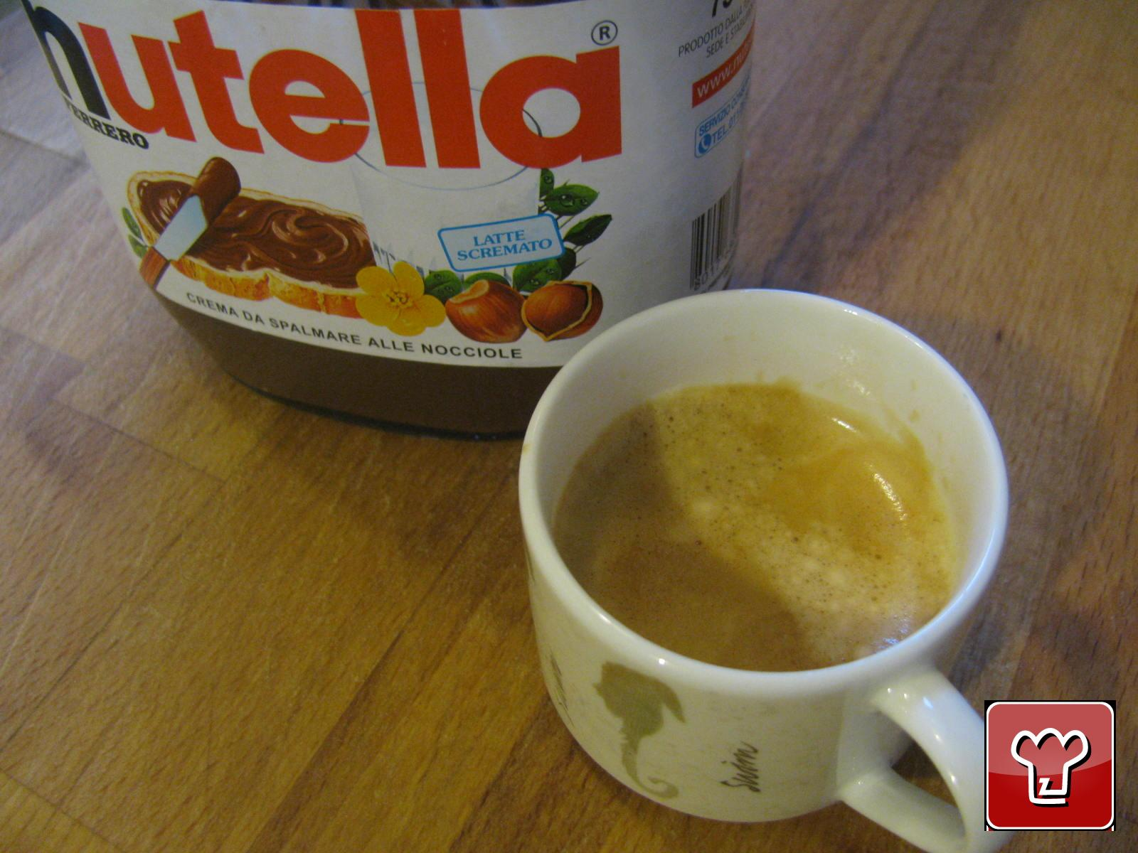 The ingredients: Nutella and coffee