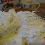 Mix the mascarpone and cheese