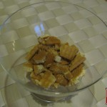 Crumbled biscuits