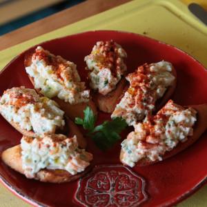 Crabmeat tapas