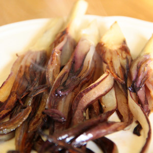Pan-steamed radicchio