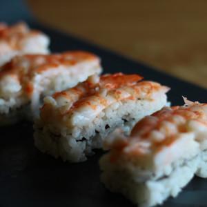 Oshi zushi alle mazzancolle