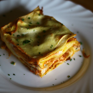 Meeresfrüchte-Lasagne