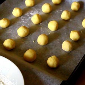 Les biscuits sont prêts à être cuits