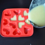 Put the mixture into the moulds