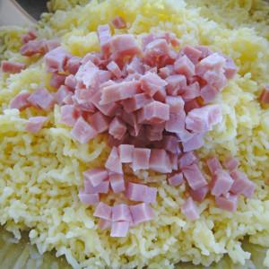 Ajouter le jambon cuit