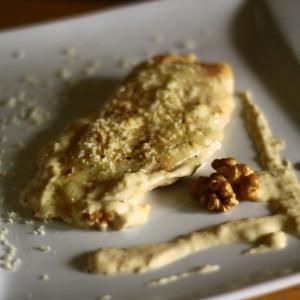 Poulet à la crème et aux noix