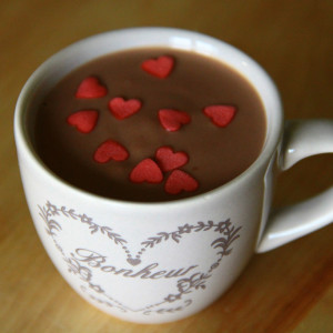 Hot chocolate with Nutella