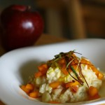 Apple and gorgonzola risotto