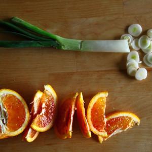 Orange and spring onion
