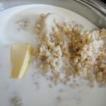Cuocere il grano nel latte