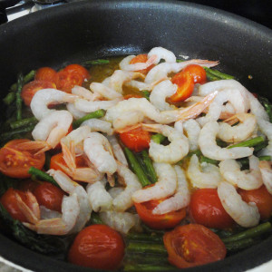 Add the shrimps