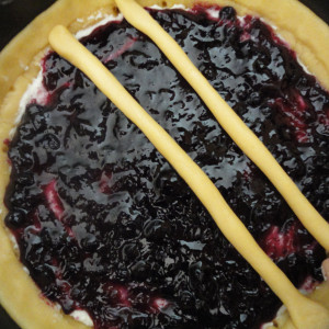 Add a layer of blackberry jam
