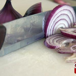 Slice the onions