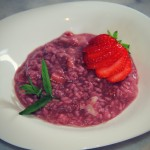 Strawberry risotto