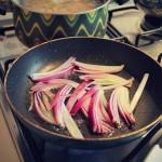 Onion in frying pan