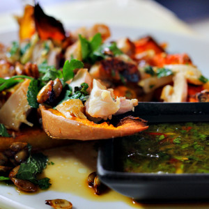 Insalata asiatica di zucca e pollo
