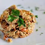 Tagliatelles de crêpes aux champignons et à la pancetta