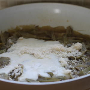 Bechamel and parmesan