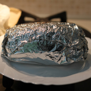 Wrap in tin foil