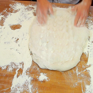 Spread out the dough