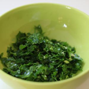 Garlic and parsley