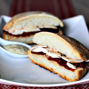 Belgian bread roll sandwich