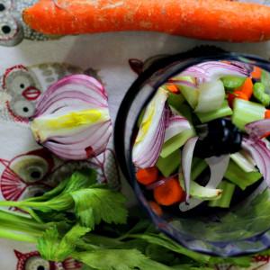 Légumes hachés
