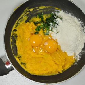 Eggs, herbs, flour