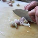 Tritare l'aglio
