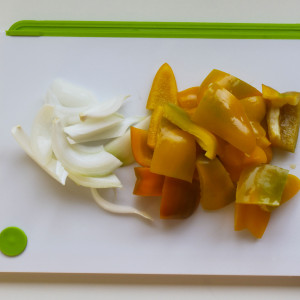Onion and bell peppers