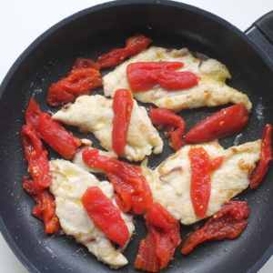 Tomatoes in the frying pan