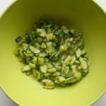 Cooked courgettes